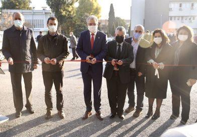 """EÜ kampüsünde """"Elektrikli Araç Şarj İstasyonu"""" hizmet vermeye başladı"""